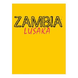 Personalizado de Zambia de la capilla del Tarjeta Postal