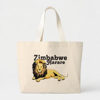 Personalizado de Zimbabwe Bolsa De Tela Grande
