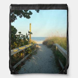 Personalizado del acceso de la playa mochilas