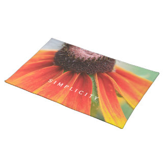 Personalizado del amarillo anaranjado del mantel individual