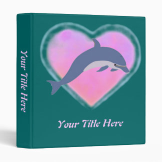 """Personalizado del amor del delfín carpeta 1"""""""