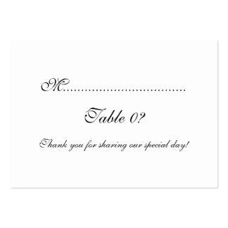 PERSONALIZADO del arreglo del boda del asiento de Tarjetas Personales