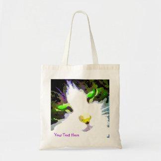 Personalizado del arte abstracto del gato la su bolsa tela barata
