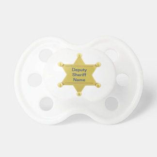 Personalizado del ayudante del sheriff chupete de bebé