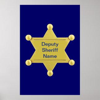 Personalizado del ayudante del sheriff póster