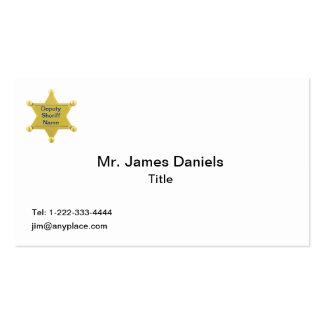 Personalizado del ayudante del sheriff tarjetas de visita