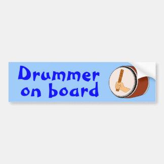 Personalizado del batería del tambor de Taiko del Etiqueta De Parachoque