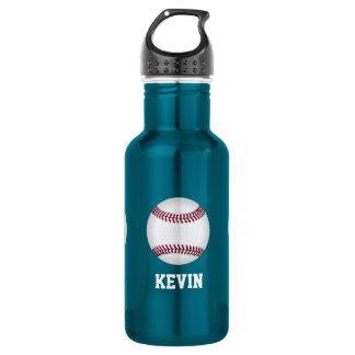 Personalizado del béisbol botella de agua de acero inoxidable
