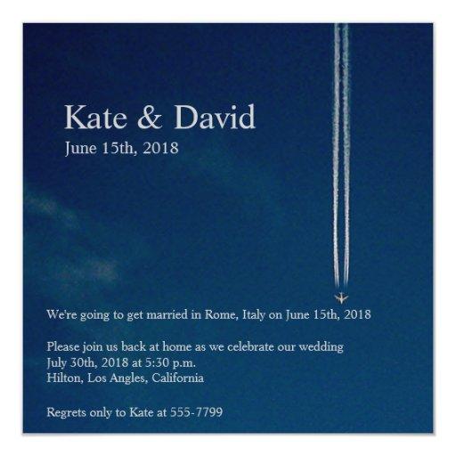 Personalizado del boda del destino del aeroplano anuncios