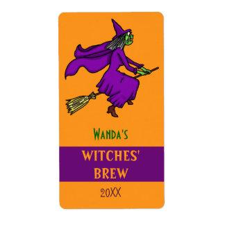 Personalizado del Brew de las brujas del dibujo Etiquetas De Envío