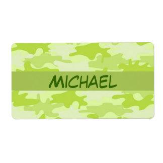 Personalizado del camuflaje de Camo de la verde
