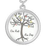 Personalizado del collar del árbol de familia hast