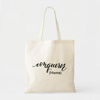 Personalizado del conquistador bolsa tela barata