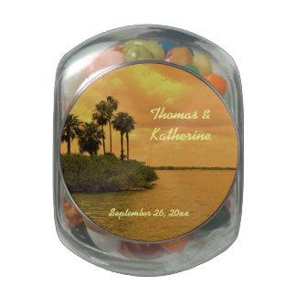 Personalizado del ensueño de la palma frascos cristal