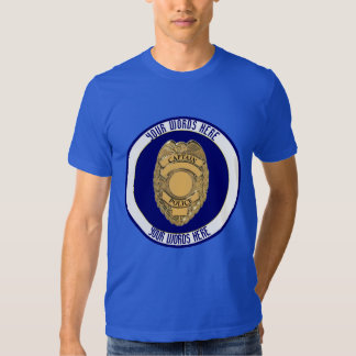 Personalizado del escudo de la insignia del remeras