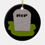 Personalizado del feliz Halloween de la piedra Adorno Redondo De Cerámica