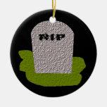 Personalizado del feliz Halloween de la piedra sep Ornamento Para Reyes Magos