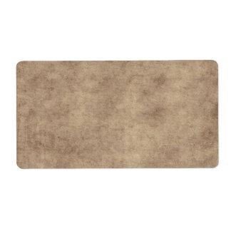 Personalizado del fondo del papel de la antigüedad etiqueta de envío