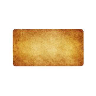Personalizado del fondo del papel de la antigüedad etiqueta de dirección