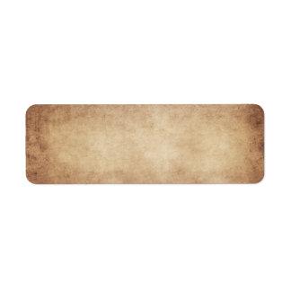 Personalizado del fondo del papel de la antigüedad etiqueta de remite