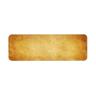 Personalizado del fondo del papel de la antigüedad etiqueta de remitente