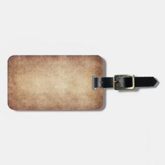 Personalizado del fondo del papel de la antigüedad etiquetas de equipaje