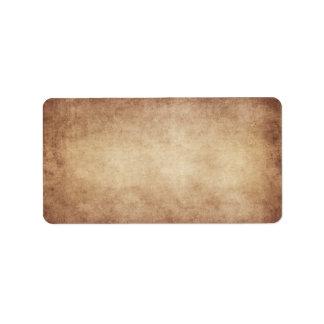 Personalizado del fondo del papel de la antigüedad etiquetas de dirección
