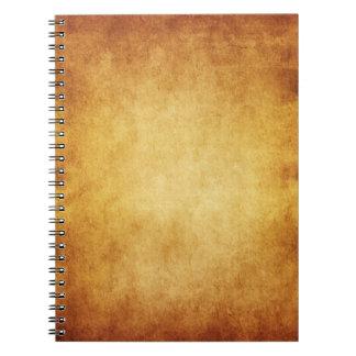 Personalizado del fondo del papel de la antigüedad libretas espirales