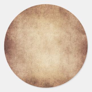 Personalizado del fondo del papel de la antigüedad pegatina redonda
