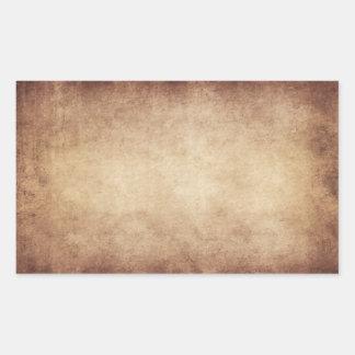 Personalizado del fondo del papel de la antigüedad pegatina rectangular