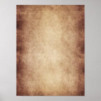 Personalizado del fondo del papel de la antigüedad póster