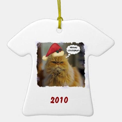 Personalizado del gato persa ornamentos de reyes magos