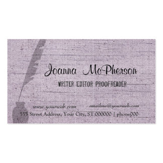 Personalizado del llano del periodista del tarjetas de visita