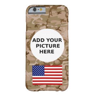 Personalizado del modelo de Camo del desierto mi Funda De iPhone 6 Barely There