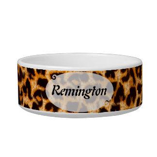 Personalizado del modelo de la piel del guepardo comedero para mascota
