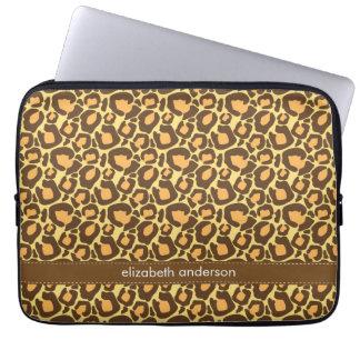 Personalizado del modelo del leopardo funda portátil
