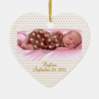 Personalizado del ornamento del chica del rosa del adorno de cerámica en forma de corazón