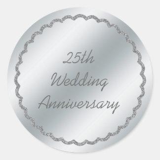 Personalizado del pegatina del aniversario de boda