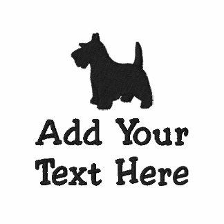 Personalizado del perro de Terrier del escocés Sudaderas Embordadas