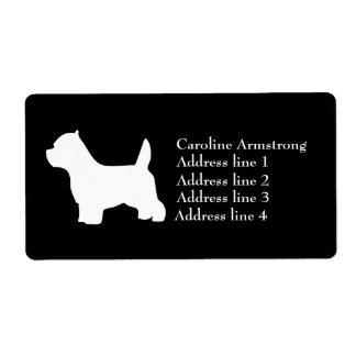 Personalizado del perro de Terrier más blanco de m Etiqueta De Envío