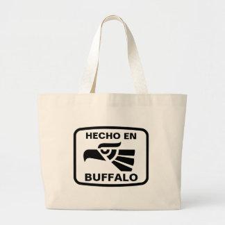 Personalizado del personalizado del búfalo del en  bolsa lienzo