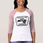 Personalizado del personalizado del caribú del en  camisetas
