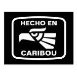 Personalizado del personalizado del caribú del en  postal
