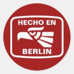 Personalizado del personalizado del en Berlín de Etiqueta Redonda