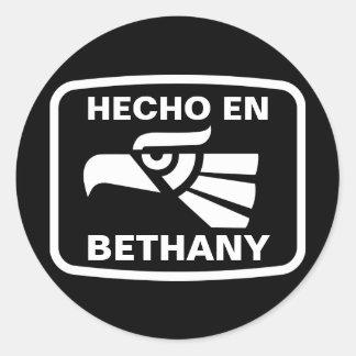 Personalizado del personalizado del en Bethany de Pegatina Redonda