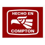 Personalizado del personalizado del en Compton de Tarjeta Postal