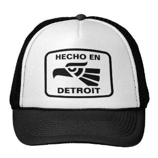 Personalizado del personalizado del en Detroit de  Gorra