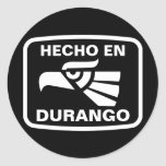Personalizado del personalizado del en Durango de Pegatina Redonda
