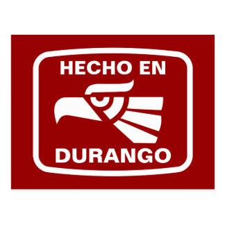 Personalizado del personalizado del en Durango de Tarjeta Postal