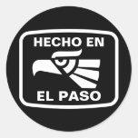 Personalizado del personalizado del en El Paso de Pegatina Redonda